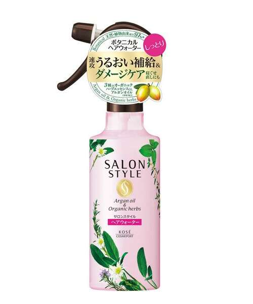 KOSE SALON STYLE BOTANICAL TREATMENT HAIR WATER (SMOOTH) МИСТ ДЛЯ ВОЛОС ГЛАДКОСТЬ, 250МЛ