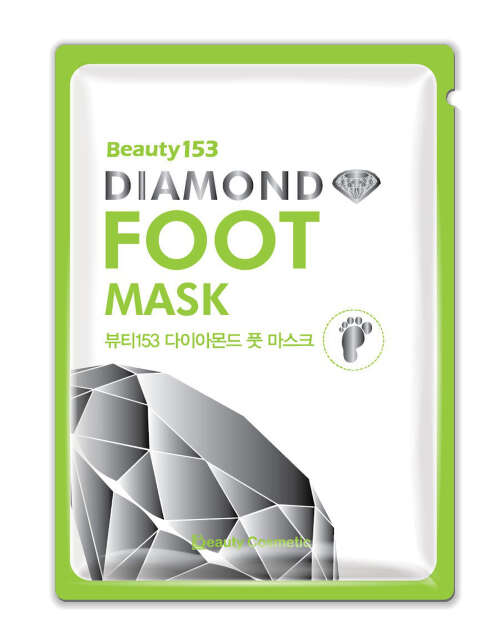 "BEAUTY 153 DIAMOND FOOT MASK МАСКА Д/НОГ ""БРИЛЛИАНТ"" (1ПАРА)"