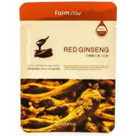 FARMSTAY VISIBLE DIFFERENCE MASK SHEET RED GINSENG МАСКА-САЛФЕТКА КРАСНЫЙ ЖЕНЬШЕНЬ, 23МЛ