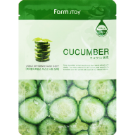 FARMSTAY VISIBLE DIFFERENCE MASK SHEET CUCUMBER МАСКА-САЛФЕТКА ОГУРЕЦ, 23МЛ