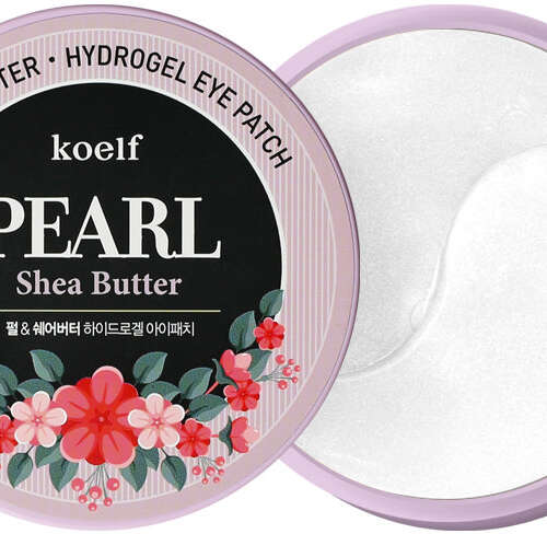 KOELF PEARL SHEA BUTTER ГИДРОГЕЛЕВЫЕ ПАТЧИ ДЛЯ ГЛАЗ ЖЕМЧУГ И МАСЛО ШИ (60ШТ) 1/72